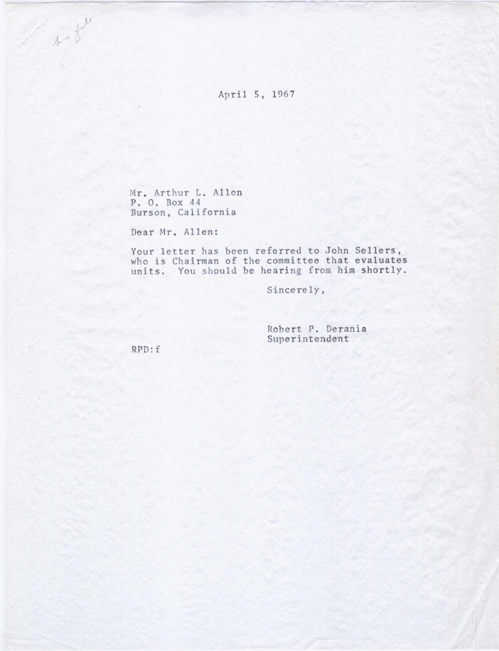 How to write absent letter to school teacher images letter writing write absent letter to teacher unmiser able arthur leigh allens 1966 1968 personnel file spiritdancerdesigns Image collections
