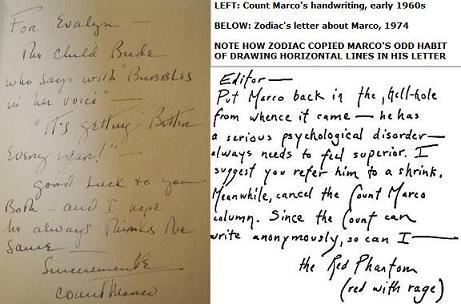 Zodiac copies Count Marco